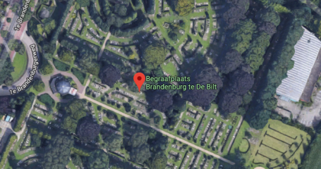Bovenaanzicht begraafplaats Brandenburg Bilthoven