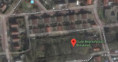 Oude begraafplaats Breukelen bovenaanzicht