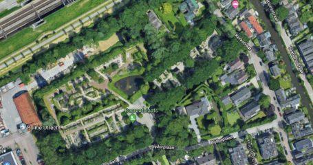 Overzicht begraafplaats in Abcoude