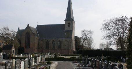 Sfeerfoto Nederlandse Hervormde begraafplaats Benschop