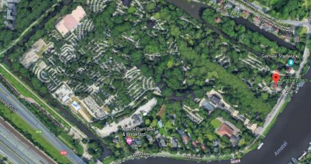 Bovenaanzicht begraafplaats Amsterdam Zorgvlied